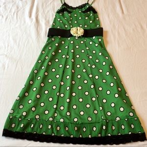 Jean Paul Gaultier Target Green Polka Dot Dress